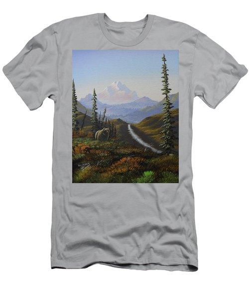 Alaskan Brown Bear Men's T-Shirt (Slim Fit) by Richard Faulkner