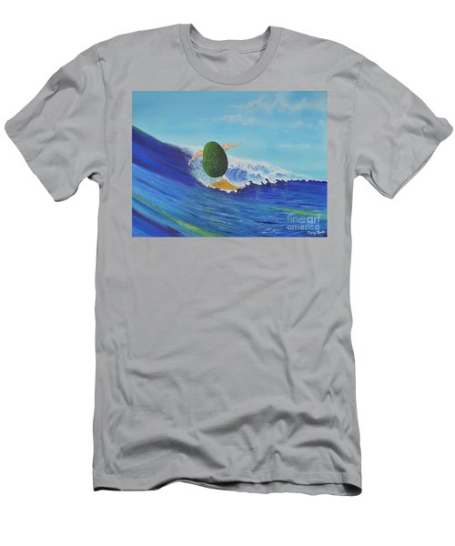 Alex The Surfing Avocado Men's T-Shirt (Athletic Fit)