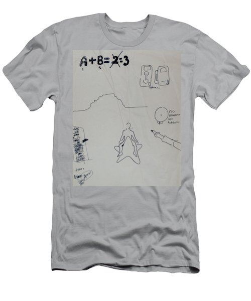 Men's T-Shirt (Slim Fit) featuring the drawing Algebra by Erika Chamberlin