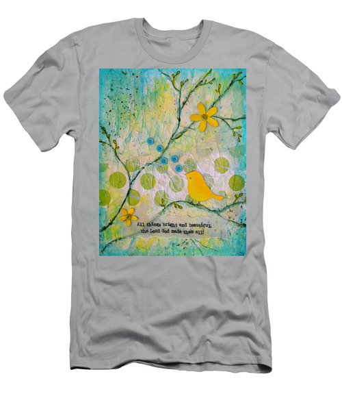 All Things Bright And Beautiful Men's T-Shirt (Slim Fit) by Carla Parris