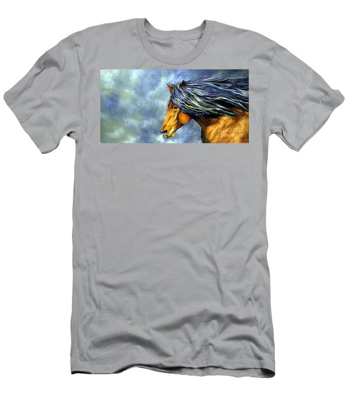 Men's T-Shirt (Slim Fit) featuring the painting Almanzors Glissando  by Alison Caltrider