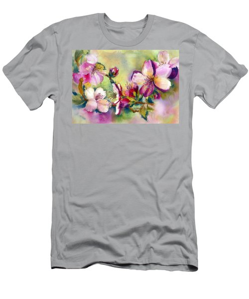Almond Blossoms Men's T-Shirt (Athletic Fit)