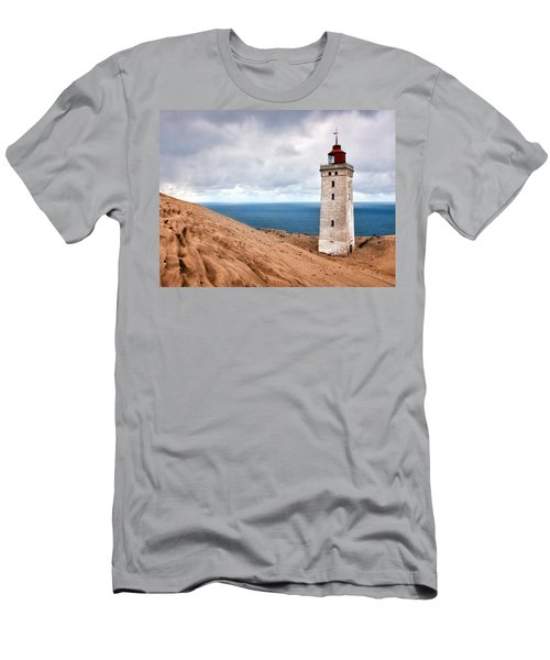 Lighthouse On The Sand Hils Men's T-Shirt (Athletic Fit)