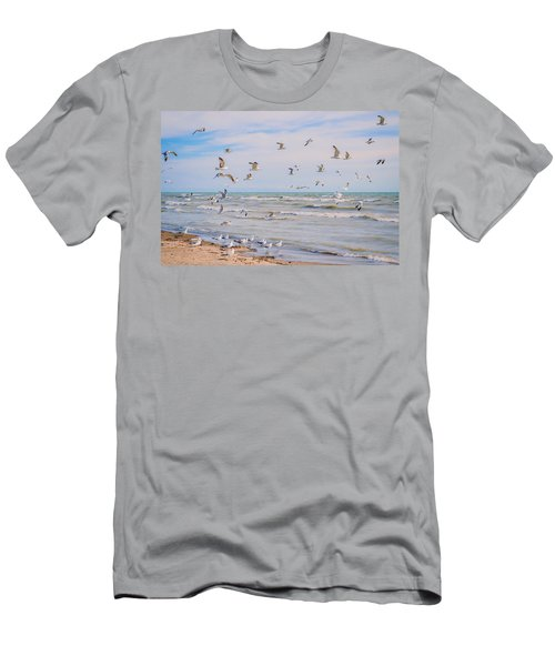 Along The Beach Men's T-Shirt (Athletic Fit)
