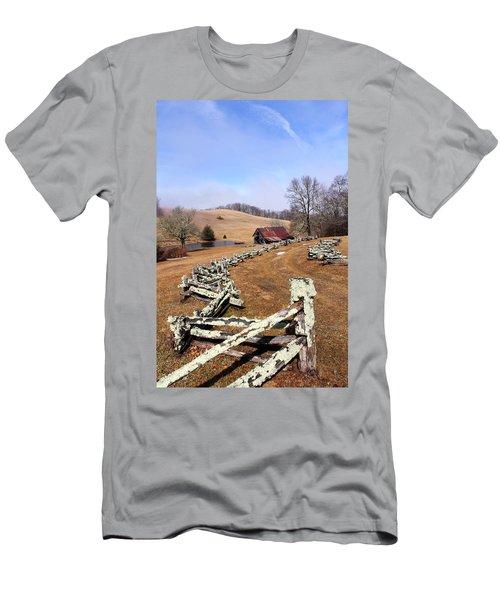 Along The Locust Rails Men's T-Shirt (Athletic Fit)