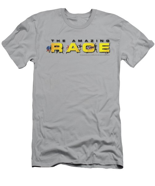 Amazing Race - Running Logo Men's T-Shirt (Athletic Fit)