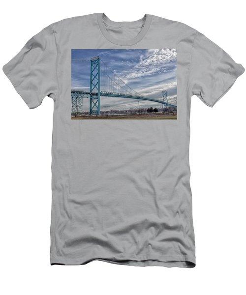 Ambassador Bridge From Detroit Mi To Windsor Canada Men's T-Shirt (Athletic Fit)