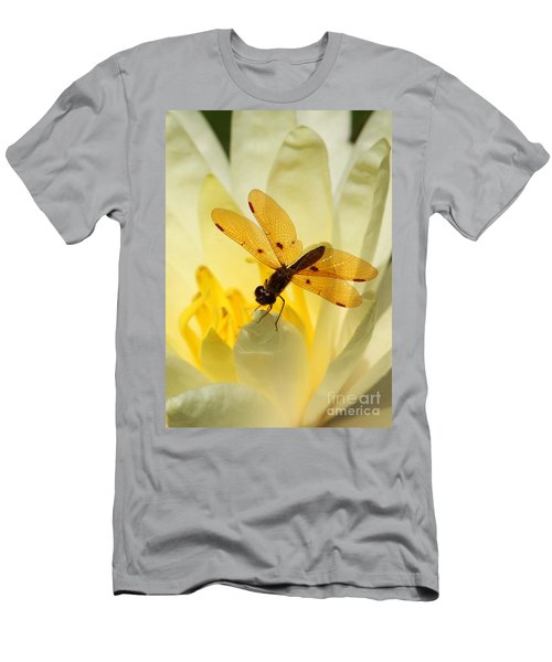 Amber Dragonfly Dancer Men's T-Shirt (Athletic Fit)