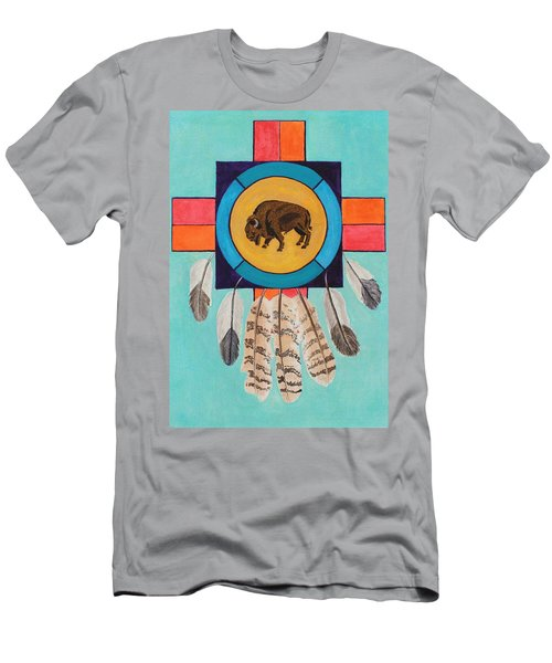 American Bison Dreamcatcher Men's T-Shirt (Athletic Fit)