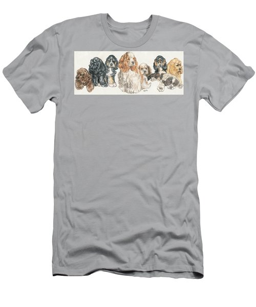 American Cocker Spaniel Puppies Men's T-Shirt (Athletic Fit)