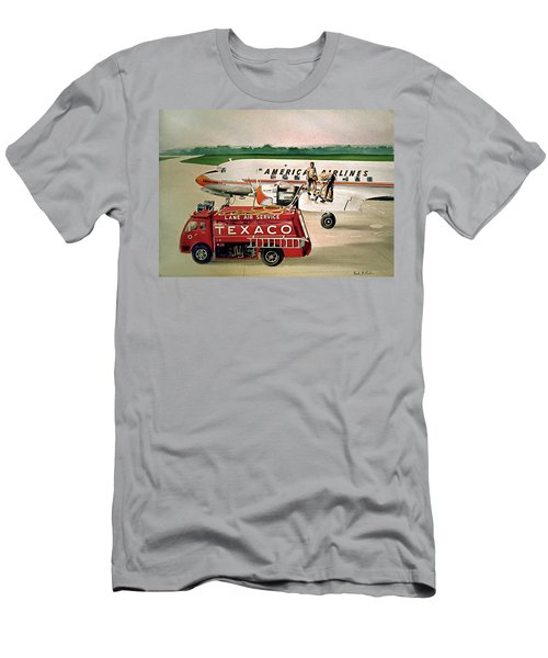 American Dc-6 At Columbus Men's T-Shirt (Athletic Fit)