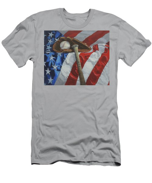 America's Game - Art By Bill Tomsa Men's T-Shirt (Athletic Fit)