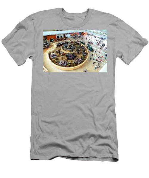 An Aerial View Of The Marina Bay Sands Hotel Lobby Singapore Men's T-Shirt (Athletic Fit)