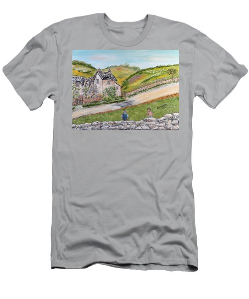 Men's T-Shirt (Slim Fit) featuring the painting An Afternoon In June  by Loredana Messina