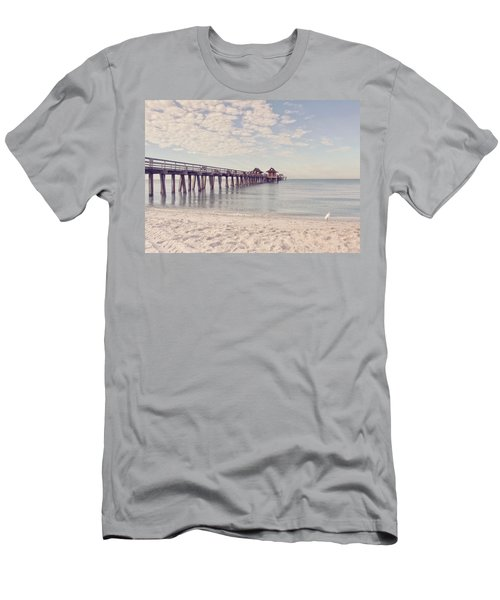 An Early Morning - Naples Pier Men's T-Shirt (Athletic Fit)