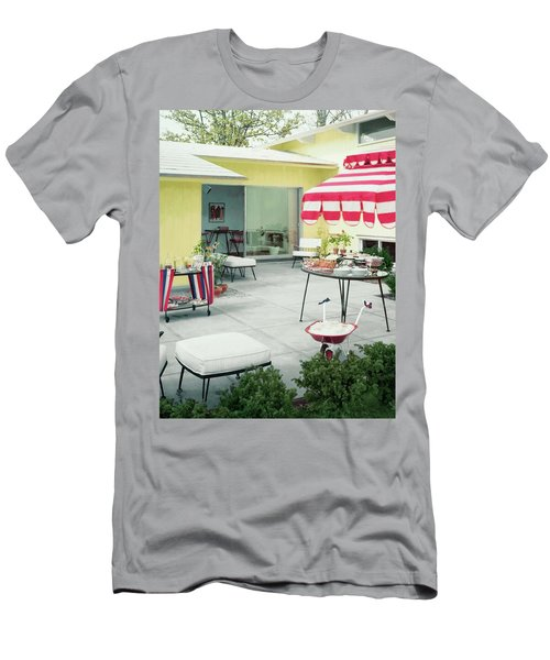 An Outside Area Set Up For A Party Men's T-Shirt (Athletic Fit)