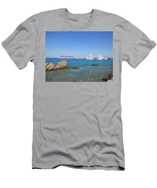 Anchored Ships Men's T-Shirt (Athletic Fit)