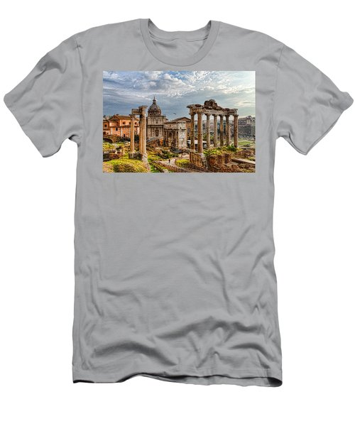 Ancient Roman Forum Ruins - Impressions Of Rome Men's T-Shirt (Athletic Fit)