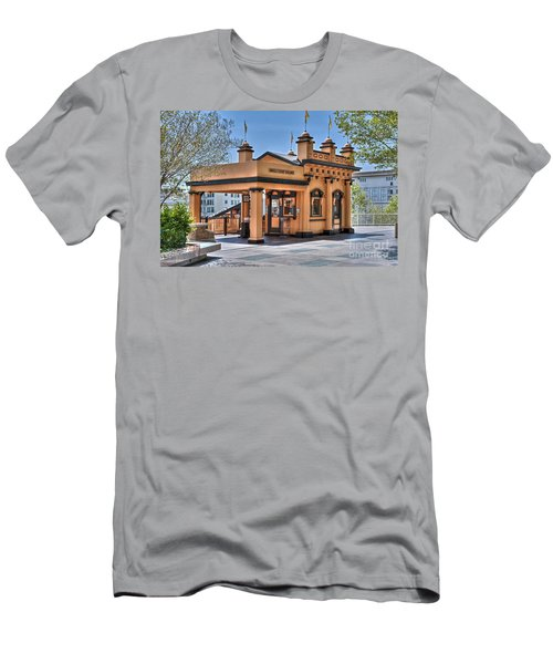 Angels Flight Landmark Funicular Railway Bunker Hill Men's T-Shirt (Athletic Fit)