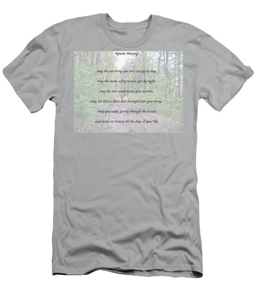 Apache Blessing With Photo Men's T-Shirt (Athletic Fit)