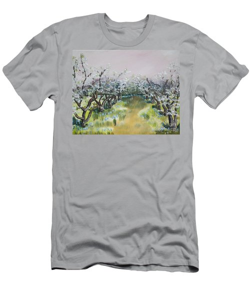 Apple Blossoms In Ellijay -apple Trees - Blooming Men's T-Shirt (Athletic Fit)
