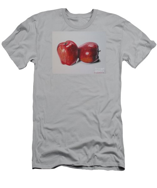 Apple Study Men's T-Shirt (Slim Fit) by Wil Golden