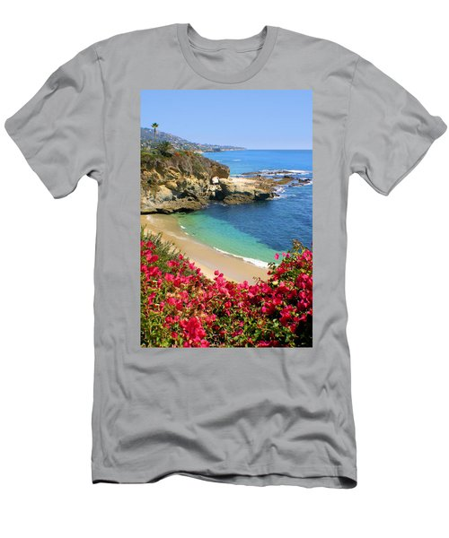 Arch Rock And Beach Laguna Men's T-Shirt (Athletic Fit)