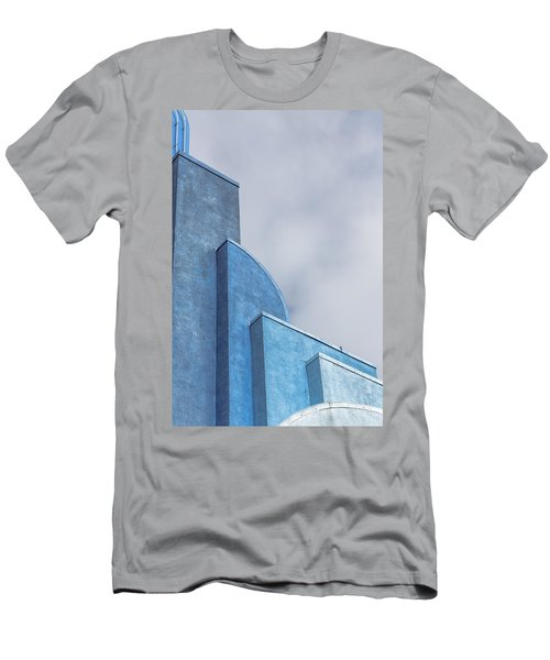 Men's T-Shirt (Athletic Fit) featuring the photograph Architecture In Blue by Susan Leonard