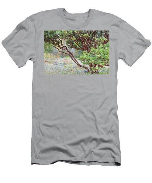 Men's T-Shirt (Slim Fit) featuring the photograph Arctostaphylos Hybrid by Kate Brown