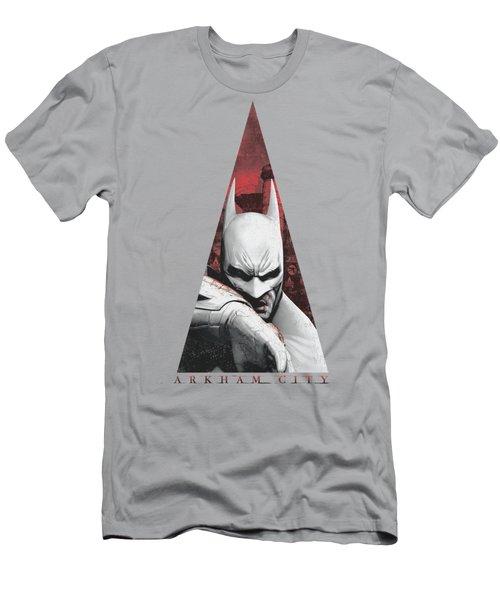 Arkham City - Bat Triangle Men's T-Shirt (Athletic Fit)