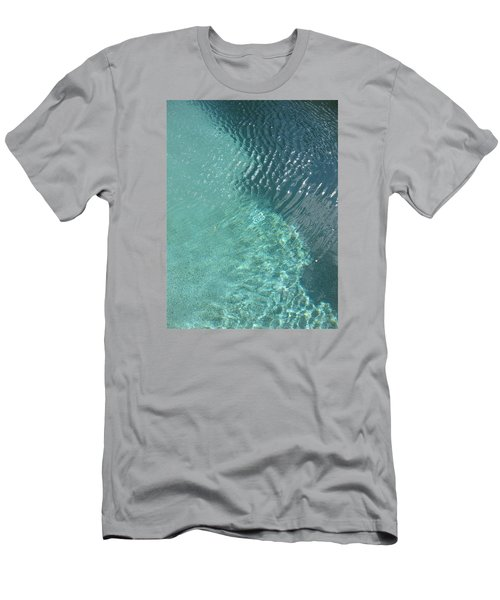 Art Homage David Hockney Swimming Pool Arizona City Arizona 2005 Men's T-Shirt (Slim Fit) by David Lee Guss