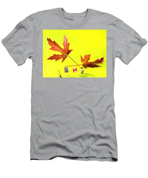 Artist De Imagination Little People Big Worlds Men's T-Shirt (Athletic Fit)