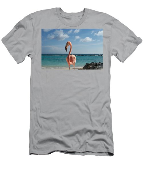 Men's T-Shirt (Slim Fit) featuring the photograph Aruba Hairy Eyeball by HEVi FineArt
