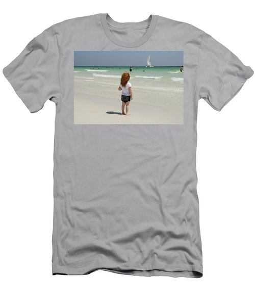As The Sail Boat Rolls By Men's T-Shirt (Athletic Fit)