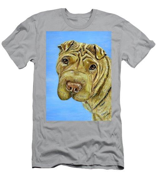 Beautiful Shar-pei Dog Portrait Men's T-Shirt (Athletic Fit)