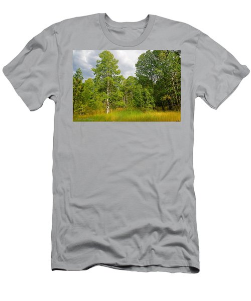 Men's T-Shirt (Slim Fit) featuring the photograph Aspen And Others by Jim Thompson