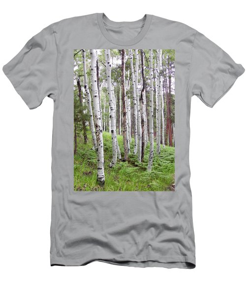 Aspen Forest Men's T-Shirt (Slim Fit) by Laurel Powell