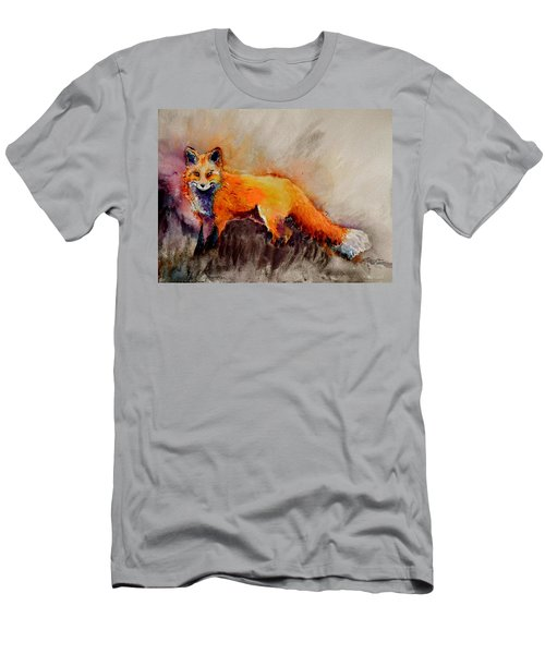 Men's T-Shirt (Slim Fit) featuring the painting Assessing The Situation by Beverley Harper Tinsley