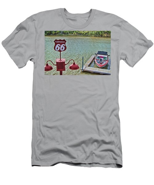 At Lake Havasu Men's T-Shirt (Slim Fit) by Cathy Anderson