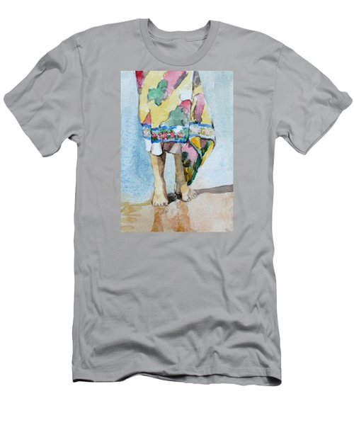 At The Beach 1  Men's T-Shirt (Slim Fit) by Becky Kim