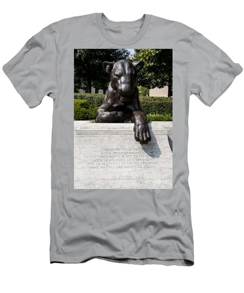 At The National Law Enforcement Officers Memorial In Washington Dc Men's T-Shirt (Athletic Fit)