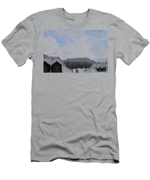 Men's T-Shirt (Slim Fit) featuring the photograph Attic Windows Open To The Sky by Felicia Tica