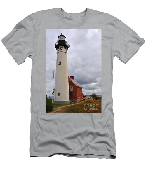 Au Sable Point Light Men's T-Shirt (Athletic Fit)