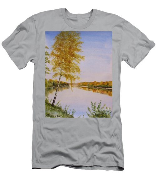 Autumn By The River Men's T-Shirt (Slim Fit) by Martin Howard