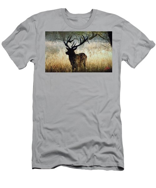 Men's T-Shirt (Athletic Fit) featuring the photograph Autumn Forest Walk In Denmark  by Colette V Hera  Guggenheim