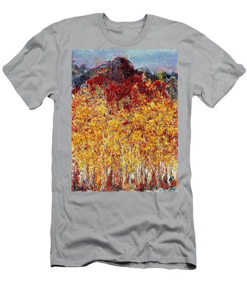 Autumn In The Pioneer Valley Men's T-Shirt (Slim Fit) by Regina Valluzzi
