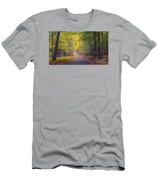 Men's T-Shirt (Slim Fit) featuring the photograph Autumn Road by Rima Biswas