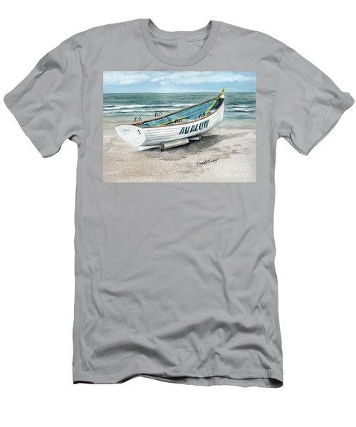 Avalon Lifeguard Boat  Men's T-Shirt (Athletic Fit)