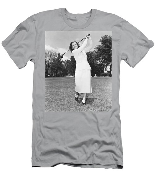 Babe Didrikson Golfing Men's T-Shirt (Athletic Fit)