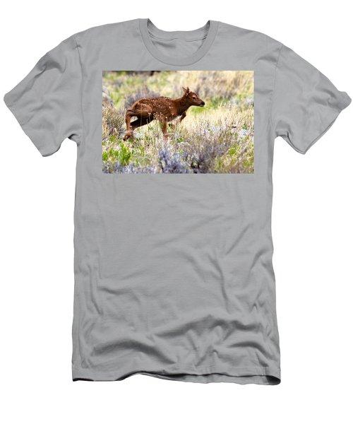 Baby Elk Men's T-Shirt (Athletic Fit)